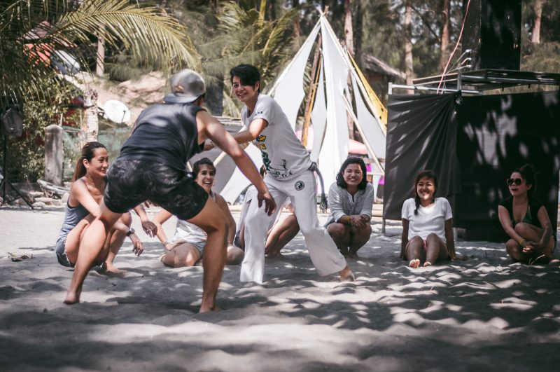 Capoeira workshops were conducted by EBC Philippines during the 5th Philippine Flow Fest (Photo by Mike Alegado)