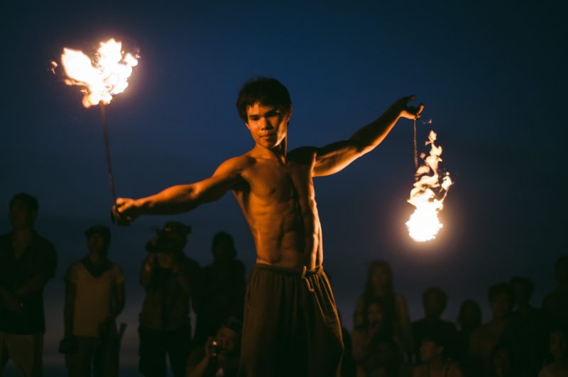 Fire dancer Ron Suksawang of Samui Circus Studio based in Thailand (Photo by Mike Alegado)