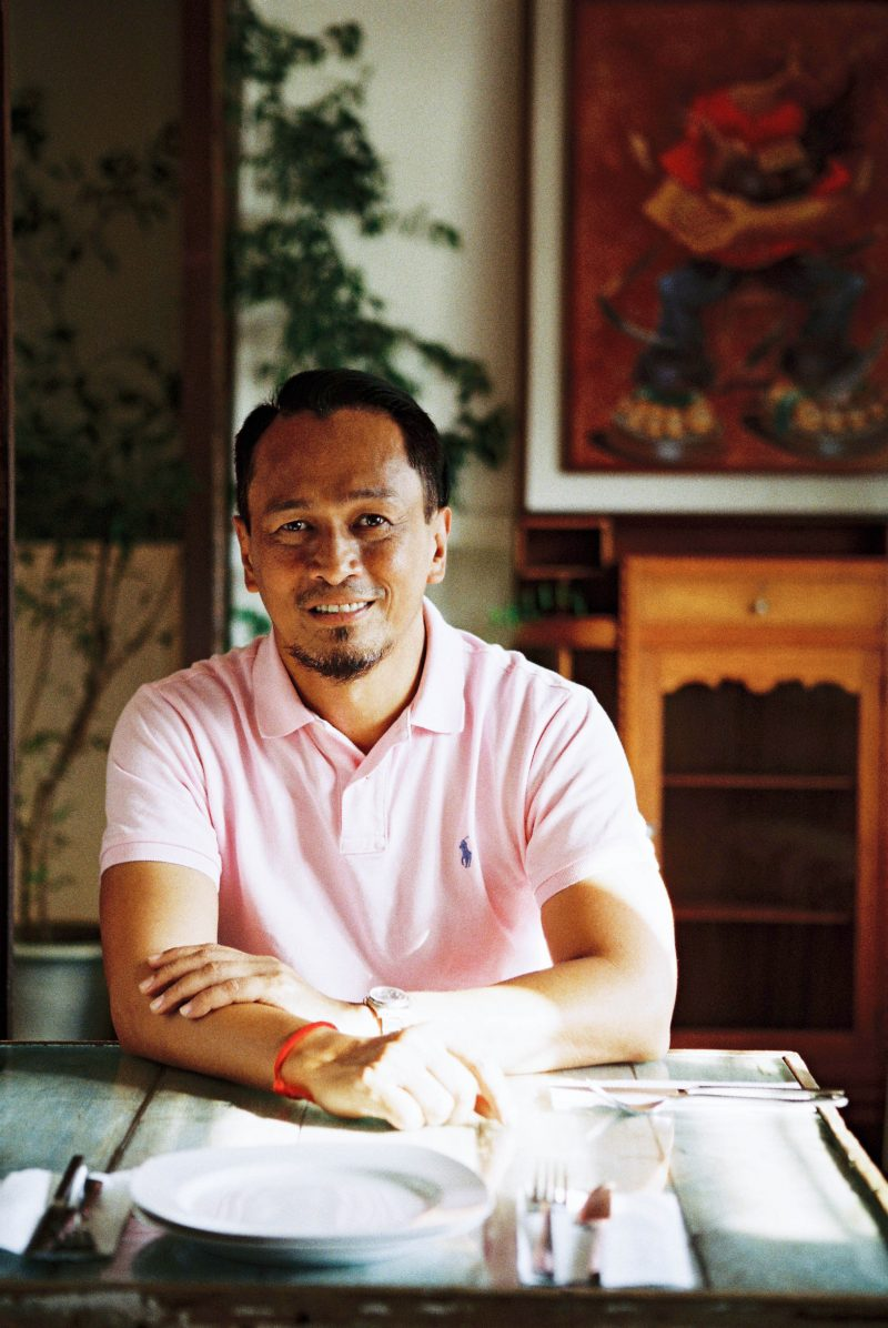 Chef Sau del Rosario of Cafe Fleur and 25 Seeds. Film photo by Jovel Lorenzo