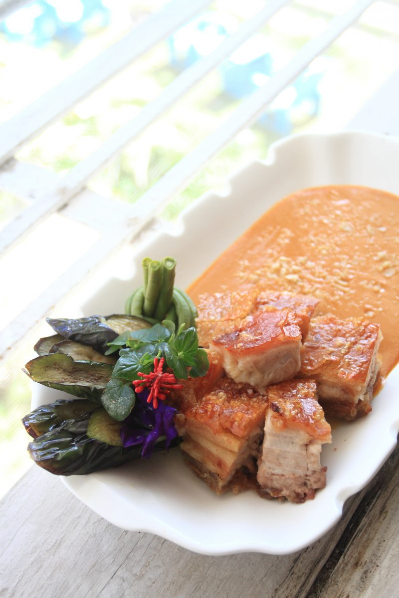 Deconstructed Kare-Kare made with truffled macadamia. Photo by Jovel Lorenzo.
