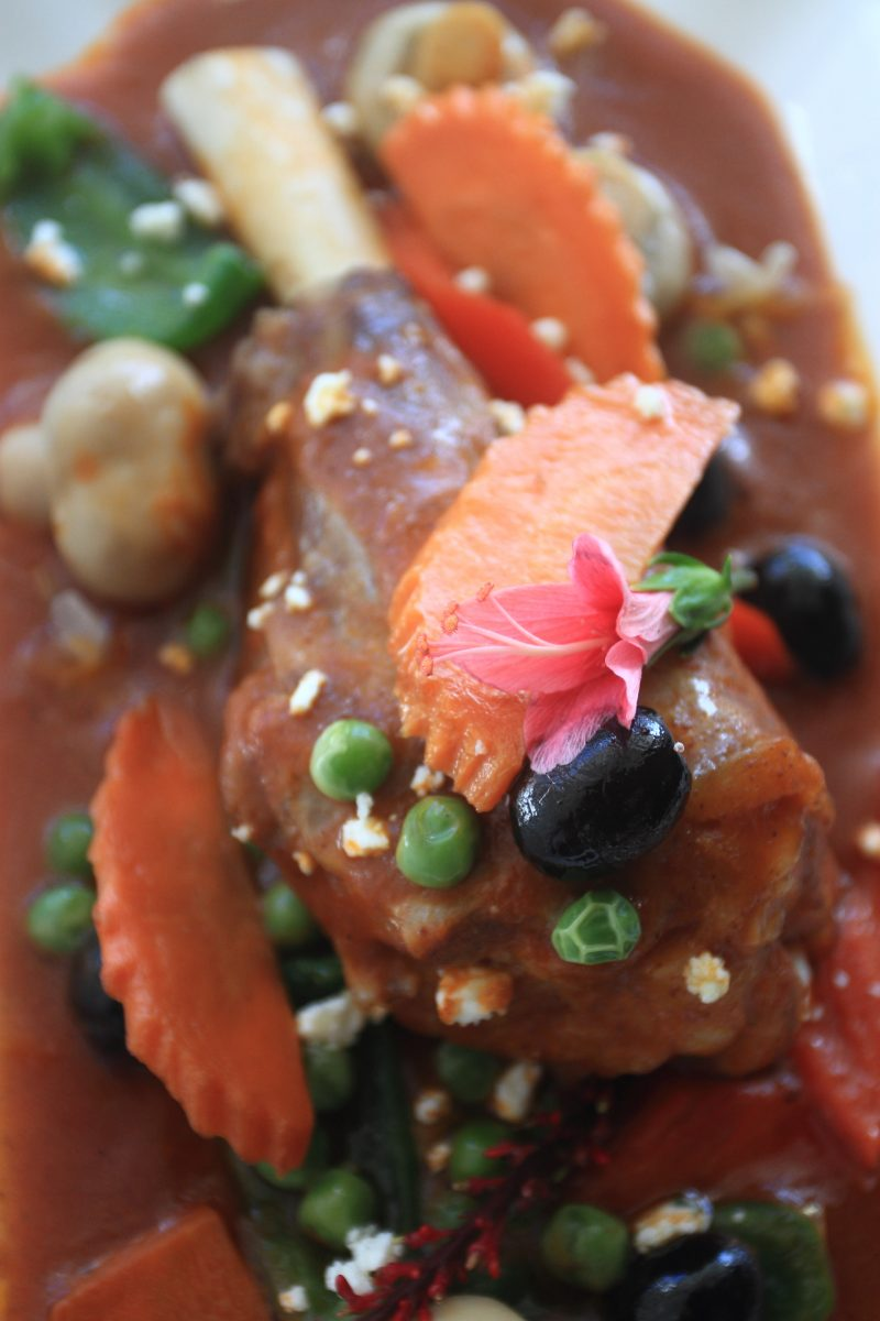 Cafe Fleur's Lamb Shank Caldereta. Photo by Jovel Lorenzo.