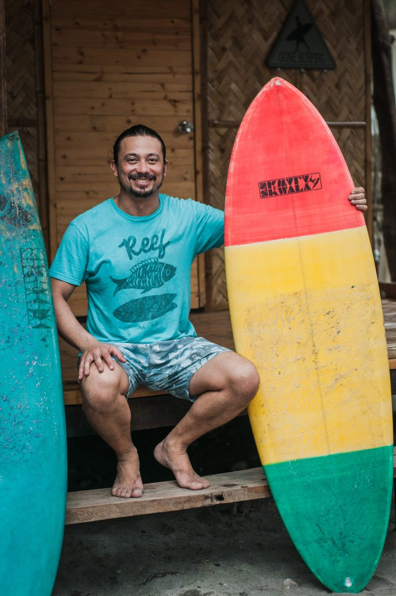 Philippine Surfing Academy president Paolo Soler. (Photo by Mike Alegado)
