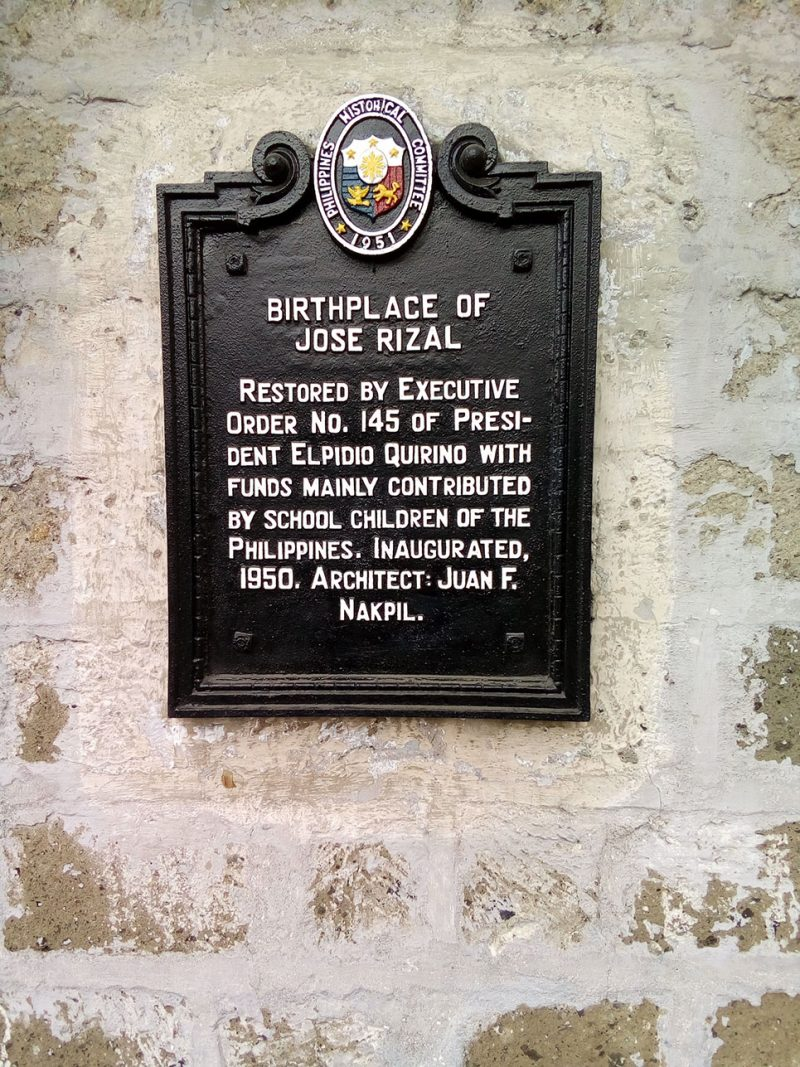 Rizal Shrine Marker